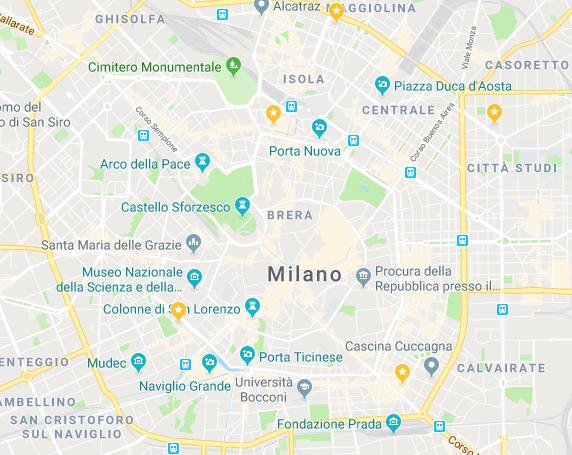 Map 4 ristoranti asiatici a Milano