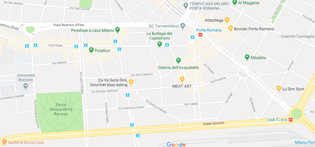 Mappa Ristoranti Porta Romana