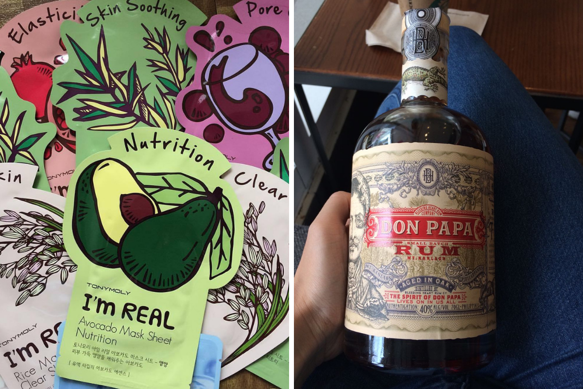 Visitare le Filippine - rum Don Papa e maschere coreane