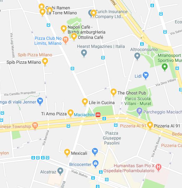 ristoranti Maciachini mappa