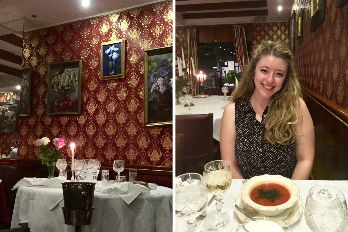 Romantic dinner in Milan podkova